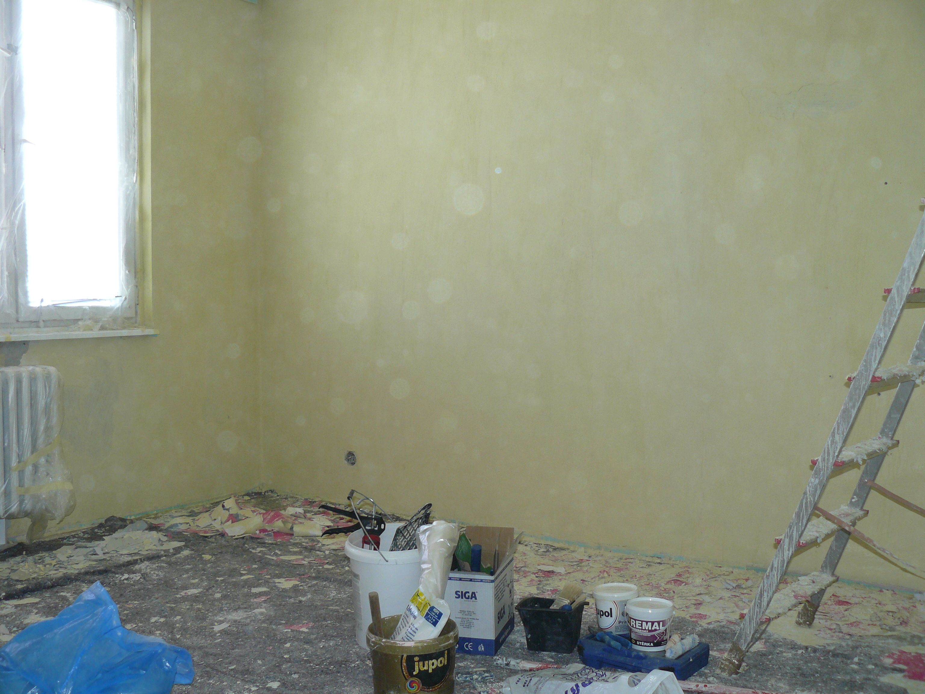 Malování - průběh prací
