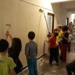 Namáčení stěny před škrábáním