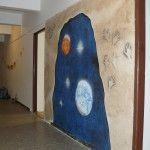 Nástěnná malba - Hotová malba jeskyně s výhledem do vesmíru