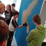 Nástěnná malba - Malba mlhoviny