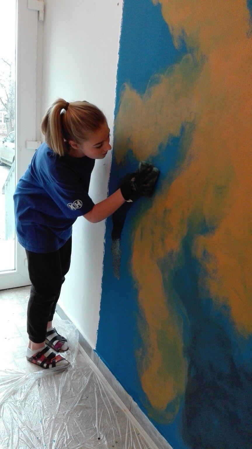 Malba žíhování kolem mlhoviny